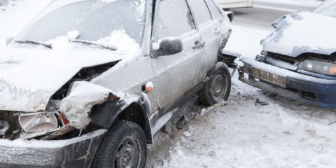 car accident in snow